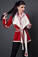 Молодежная куртка-кардиган на запах