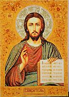 Икона из янтаря Спаситель