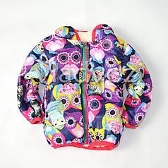 Детская демисезонная куртка для девочки совушка 1-2 года 92р-98р