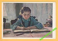 ЖИВОПИСЬ 1954 Дети Школа Учеба Книги Худ. В.ИВАНОВ