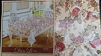 Скатерть нарядная с ажурной отделкой, 120х150 см., 175/125 (цена за 1 шт. + 50 гр.)