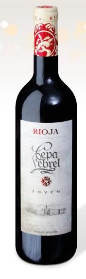 Вино Cepa Lebrel Rioja Joven 0.75 l.