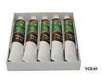 Чёрная акриловая краска для росписи ногтей 5 шт. 22 мл, YRE YPR-01