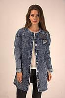 Стильный джинсовый кардиган, фото 1