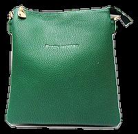 Классическая женская сумка Pretty woman зеленого цвета на плечо