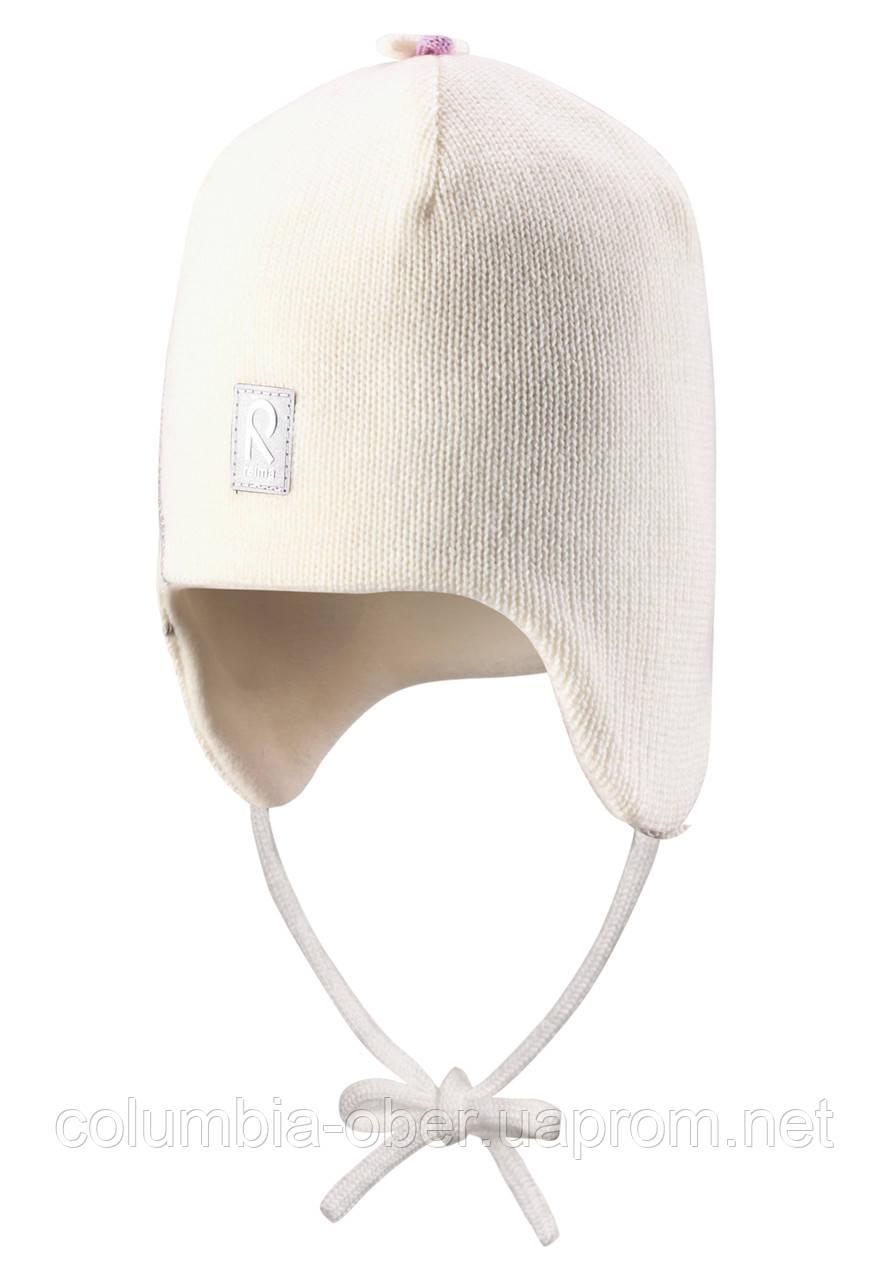 Детская зимняя шапка для девочки Reima 518359-0110. Размер 46-52.