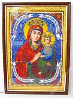 Икона из бисера Споручница грешных,  23х32 см