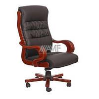 Кресло Президент 02, кожзам черный (6243 Black PU+PVC)