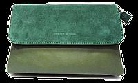 Сумка-клатч женская Pretty woman зеленая на плечо