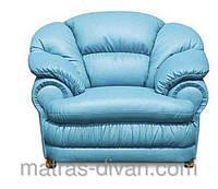 Кресло Барон не раскладное кресло не раскладное, кожзам голубой