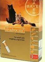 АДВОКАТ - для котов до 4кг  (0,4мл) 3 пилюли