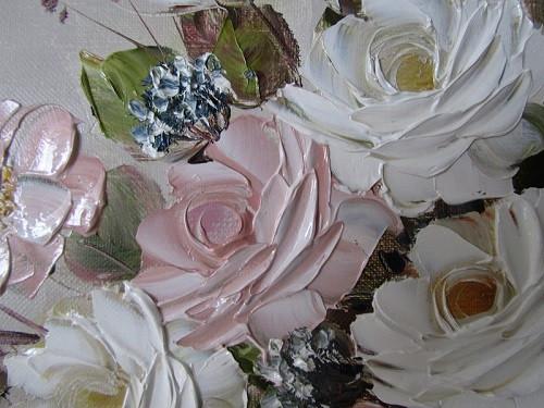 Картина масло цветы купить ежедневники в подарок мужчине