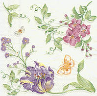 Редкая салфетка Нежные цветы 6158