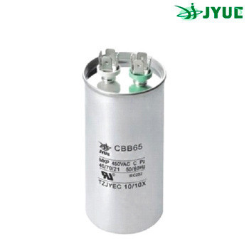CBB-65 100mkf ~ 450 VAC (±5%). JYUL (60*130 mm) Алюмин. корпус, клеммы