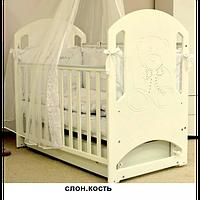Кроватка Верес Соня ЛД8 декор мишка со стразами, фото 1