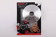 """Вариатор передний (тюнинг) на скутер    4T Stels 150   (медно-граф. втулка, ролики латунь)   """"KOSO"""""""