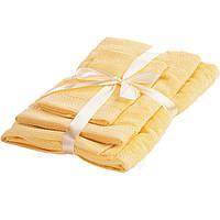 Набор махровых полотенец UnderPrice 3 шт солнечный