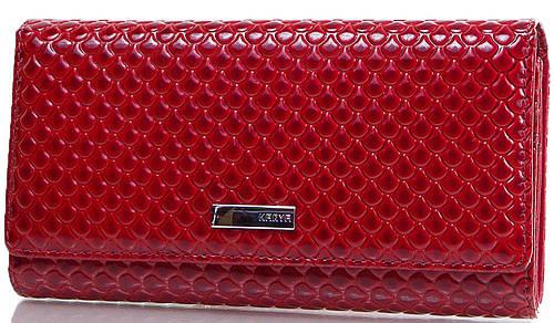 Компактный женский кошелек из натуральной кожи KARYA (КАРИЯ) SHI1132-122 красный