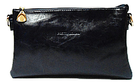 Сумка- клатч женская Pretty woman темно синяя глянец на плечо