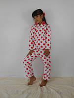 """Стильная пижама для девочек """"Красный горох"""""""