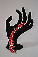 Подарок для прекрасных дам - браслет  из керамических  бусин