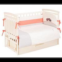 Комплект постельного белья Putti Baby Bird 6 эл + карман