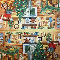 Редкая салфетка декупажная Новогодняя подготовка 6164