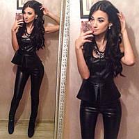 Женский костюм из эко кожи 119 (24)