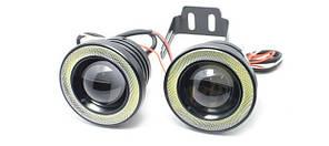 LED протитуманні фари (втф) світлодіодні 10w, 89 мм з ангельськими очками