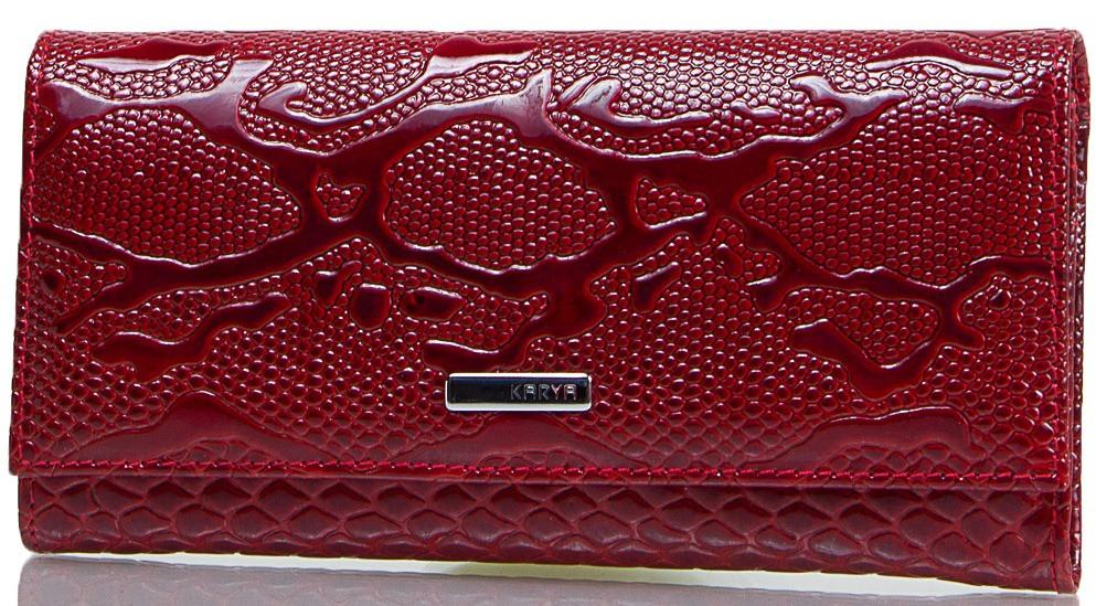 Качественный женский кошелек из натуральной кожи KARYA SHI1101-019 красный
