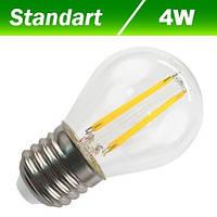 Светодиодная лампа BIOM Filament E27, 4W, 220V (белый, теплый белый)