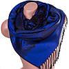 Стильный женский двусторонний палантин из пашмины 180 на 70 см ETERNO ES2707-5-12 синий
