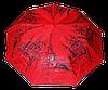 Эксклюзивный женский зонт полуавтомат красный