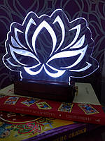Светильник ночник светодиодный для детской комнаты Лотос