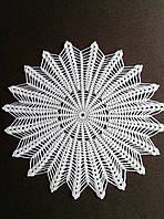 Салфетки ручной работы, D 42 cm,  белая