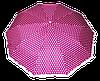 Шикарный женский зонт в розовый в белый горох