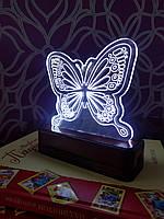 Светильник ночник светодиодный для детской комнаты Бабочка