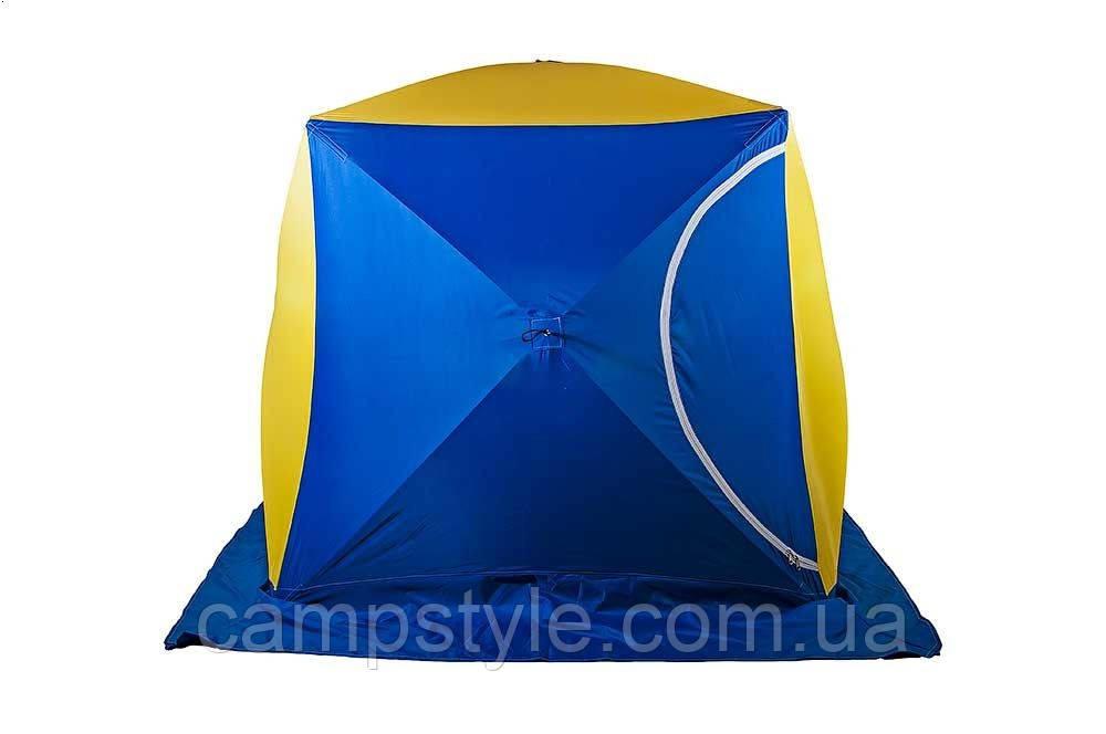 Двухместная  палатка для зимней рыбалки CTEK-КУБ 2 (призма)
