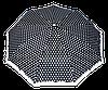 Женский зонт полуавтомат черный в белый горох