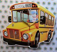 Часы настенные Школьный автобус