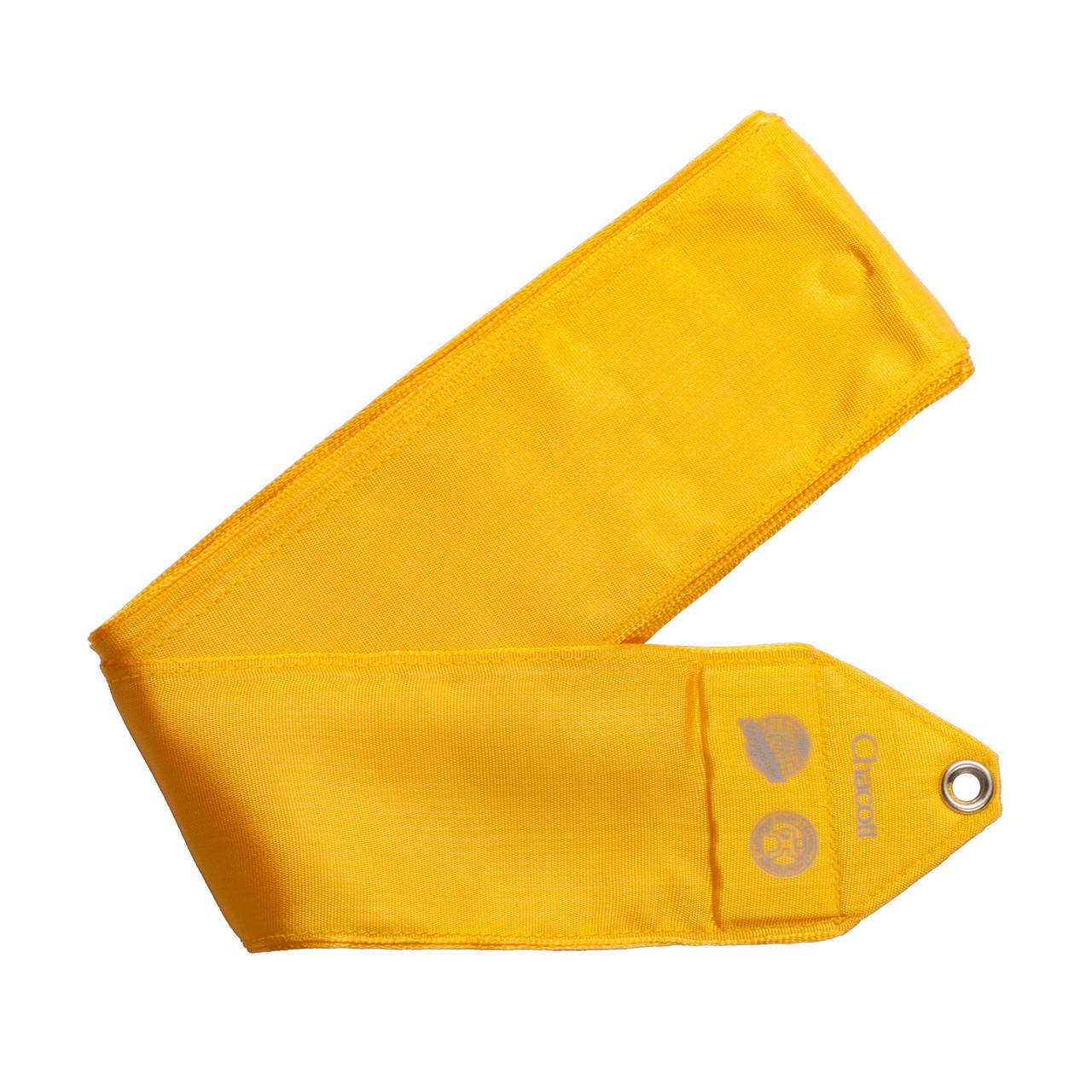 Стрічка Chacott 65404-Med Ribbon 5м синт.шовк Lemon Yellow 063