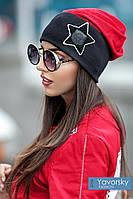 Женская шапка замшевая