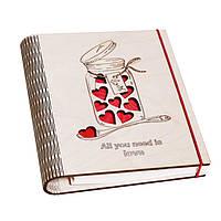 """Подарок для девочек - Блокнот """"Love"""""""