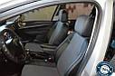 Авточехлы экокожа с двойной строчкой для Hyundai Matrix 2002- г., фото 5