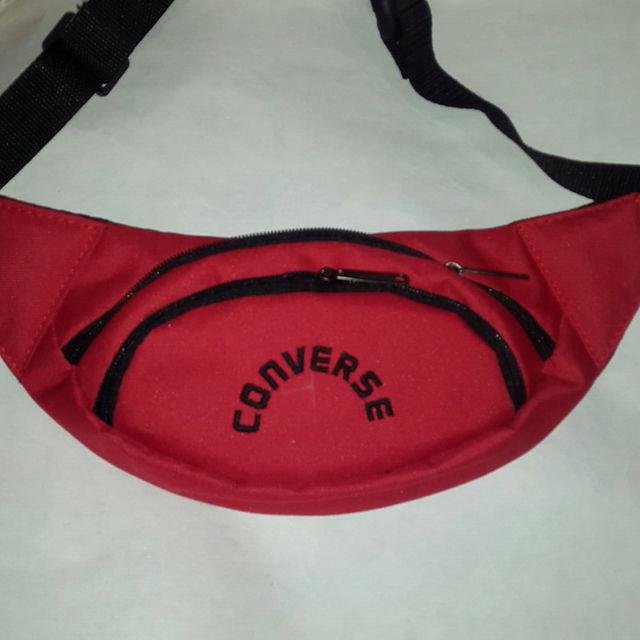 Поясная сумка бананка Converse, Конверс красная ( код: IBS069R )