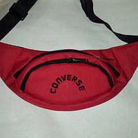 Поясная сумка бананка Converse, Конверс красная ( код: IBS069R ), фото 1