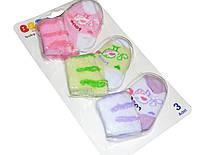 Носки BBS Махра (набор 3 пары) р.0-3 мес.