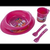 Детский набор посуды пластиковый Пираты Canpol 4/405