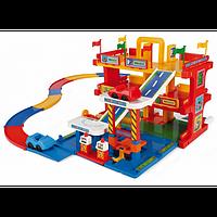 Игровой набор Wader гараж 3 уровня с дорогой 50400