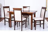 Стол раскладной из дерева +гостиная+кухня  Классик Плюс 120(+40)х70 (светлый орех)